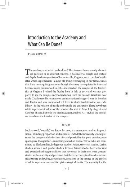 "Journal of Critical Ethnic Studies: ""The Academy and What Can Be Done"""