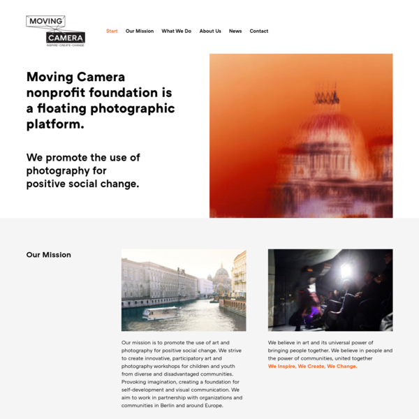 Moving Camera Nonprofit Foundation - a place for children to get inspired