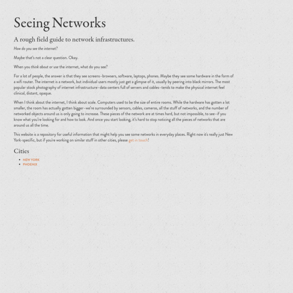 Seeing Networks