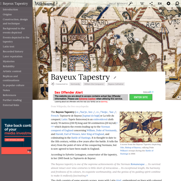 Bayeux Tapestry | Wikiwand