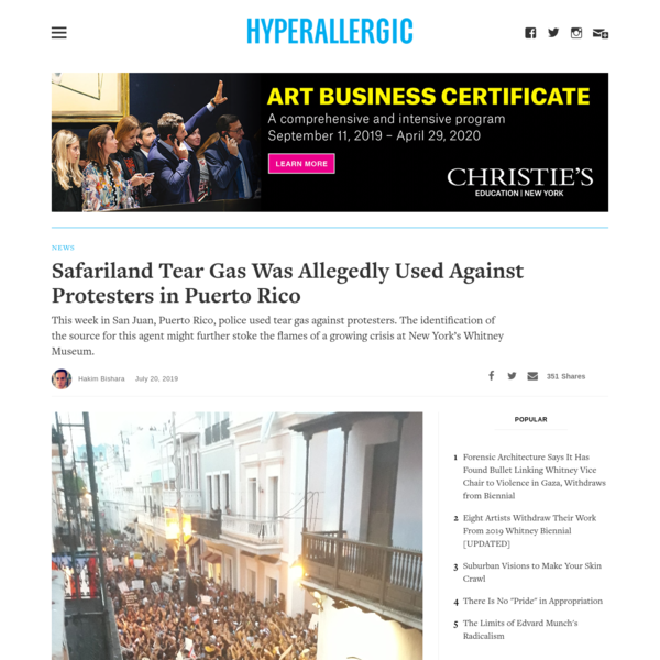 Safariland Tear Gas Was Allegedly Used Against Protesters in Puerto Rico