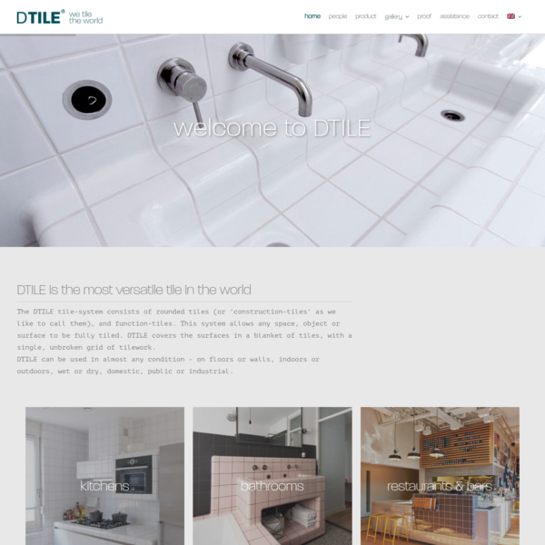 Welcome to DTILE - Rounded tiles & functional tiles