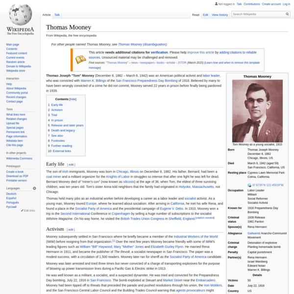 Thomas Mooney - Wikipedia