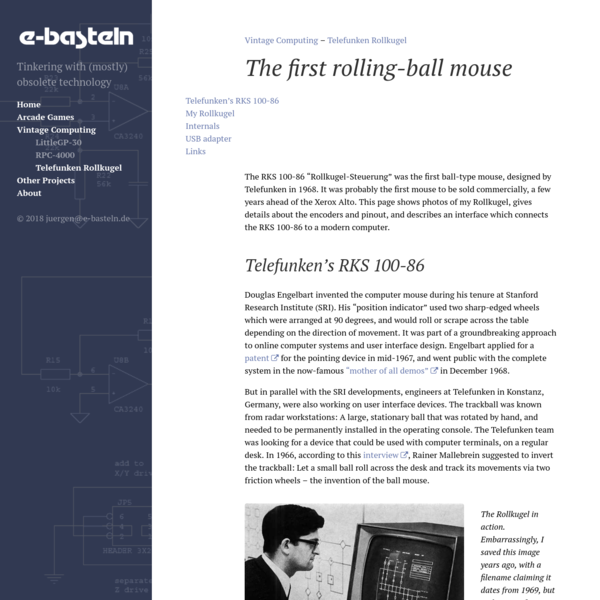 The first rolling-ball mouse · e-basteln