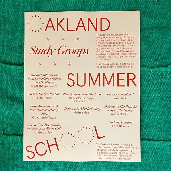 Join us for a month of study! // Oakland Summer School study groups will meet throughout July // learn more at oaklandsummer...