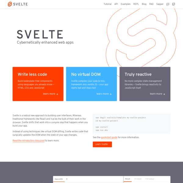 Svelte * Cybernetically enhanced web apps