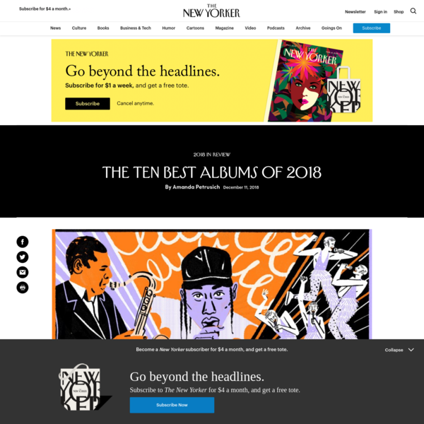 The Ten Best Albums of 2018 | The New Yorker