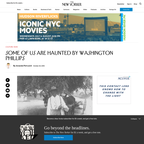 Some of Us Are Haunted by Washington Phillips | The New Yorker