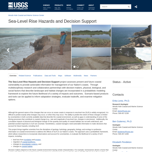 Sea-Level Rise Hazards and Decision Support