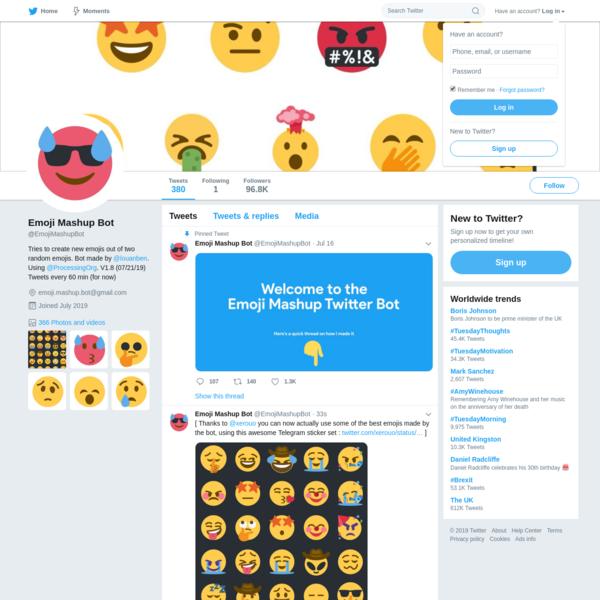 Emoji Mashup Bot (@EmojiMashupBot) | Twitter