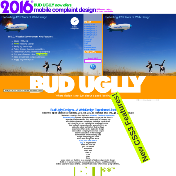 bUD uGLLY dESIGN | An example of bad web design