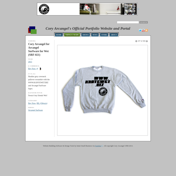 Cory Arcangel for Arcangel Surfware for Wet (SRF-021) - Cory Arcangel's Official Portfolio Website and Portal