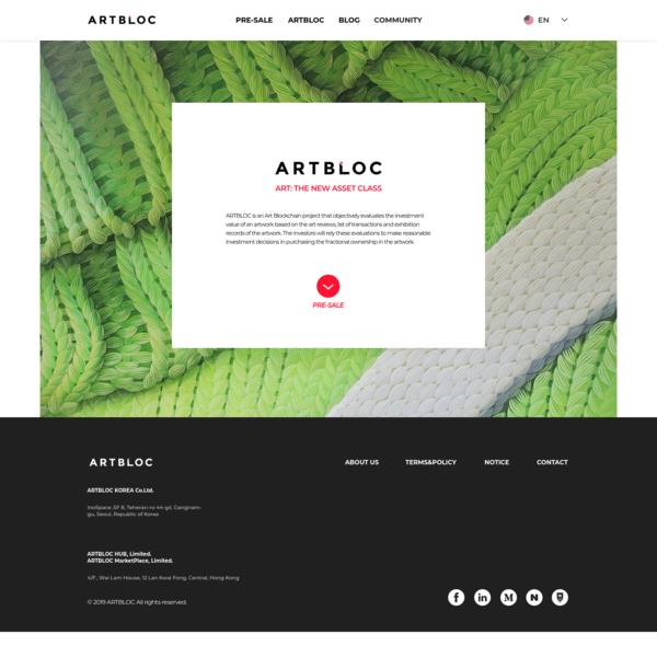 ARTBLOC - Fine Art, Blockchain, STO, 아트블록