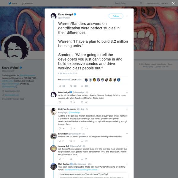 Dave Weigel on Twitter