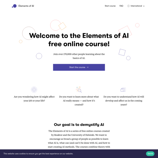 A free online introduction to artificial intelligence for non-experts