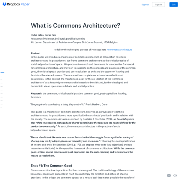 What is Commons Architecture?