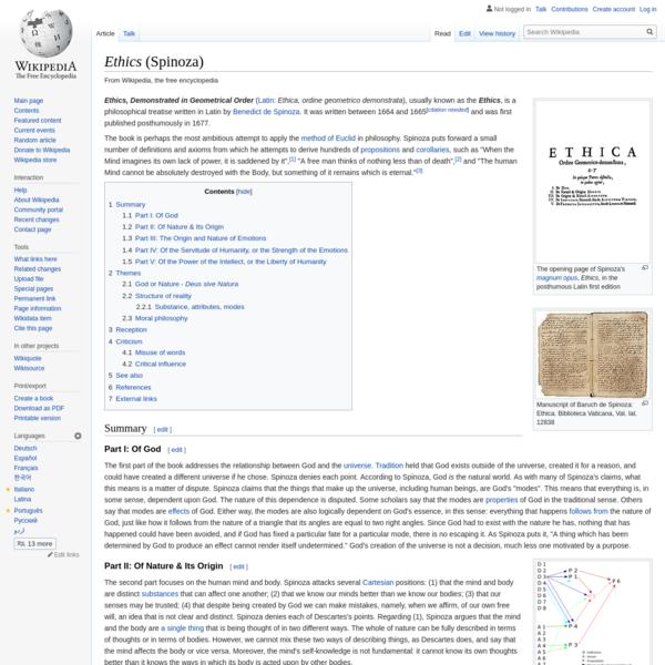 Ethics (Spinoza) - Wikipedia