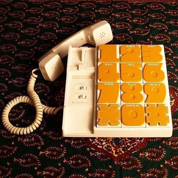 📞 early 80's phone typography. via @neontalk