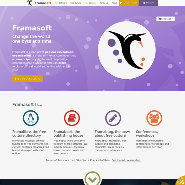 Framasoft - Changer le monde, un octet à la fois.