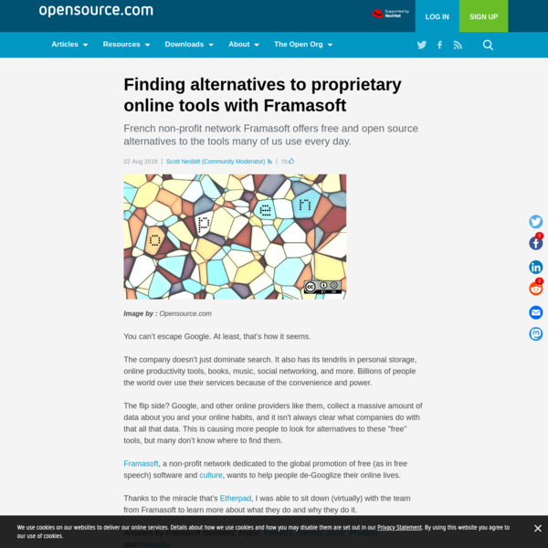 Finding alternatives to proprietary online tools with Framasoft