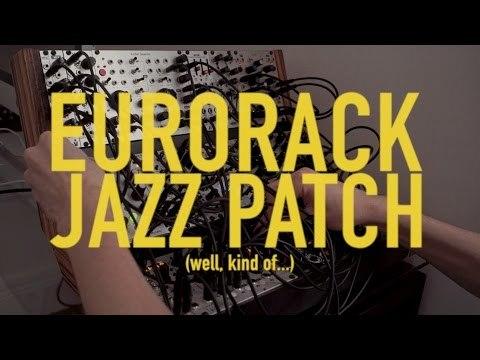 Eurorack jazz patch with TipTop Trigger Riot