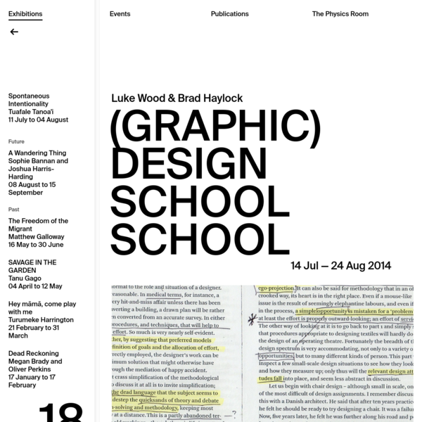 (Graphic) Design School School | The Physics Room