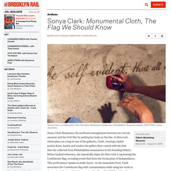 Sonya Clark: Monumental Cloth, The Flag We Should Know