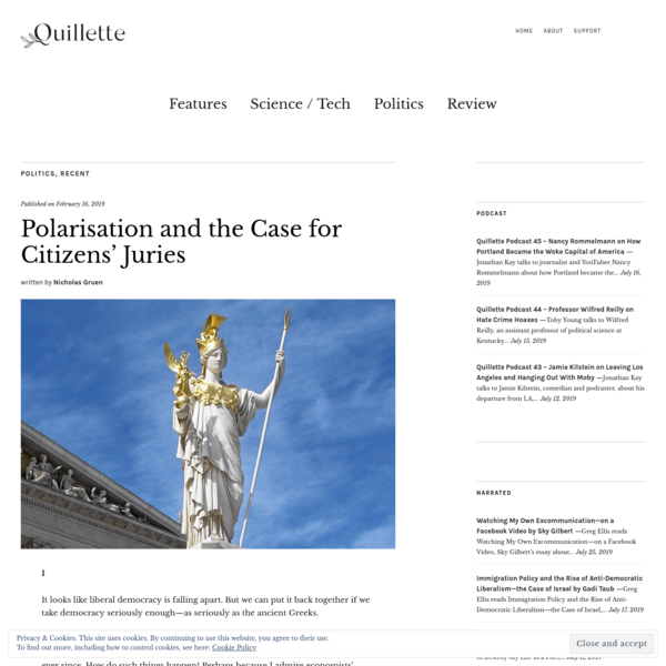 Polarisation and the Case for Citizens' Juries - Quillette
