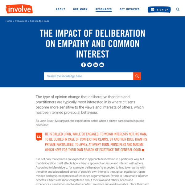 The impact of deliberation on empathy and common interest