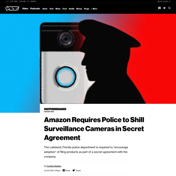 Amazon Requires Police to Shill Surveillance Cameras in Secret Agreement