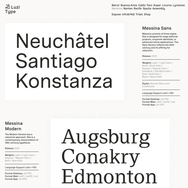 Messina Font - Luzi Type Foundry
