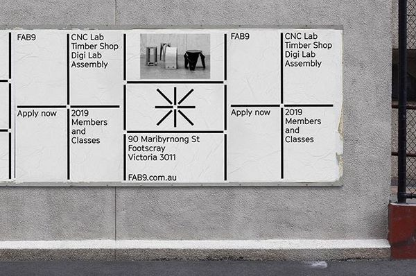 Posters for @fab9au. A new maker space in Footscray.