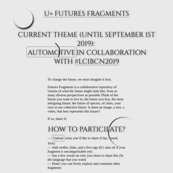 U+: Call for Futures Fragments