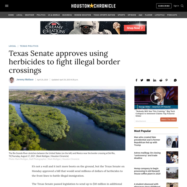 Texas Senate approves using herbicides to fight illegal border crossings