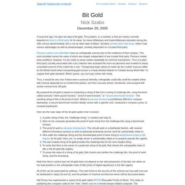 Bit Gold