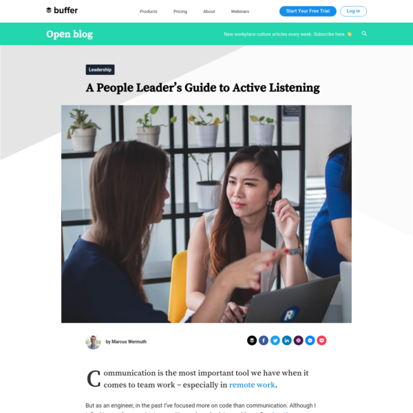 A People Leader's Guide to Active Listening