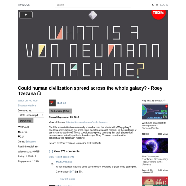 Could human civilization spread across the whole galaxy? - Roey Tzezana