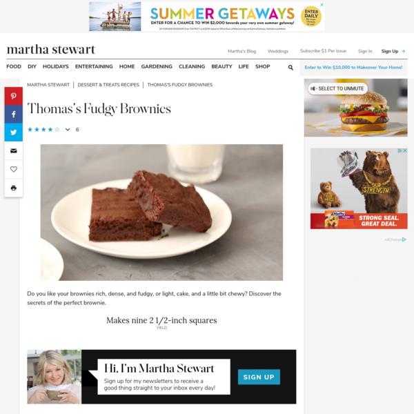 Thomas's Fudgy Brownies