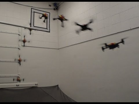 Design and Control of a Passively Morphing Quadcopter