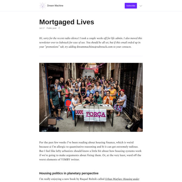 Mortgaged Lives