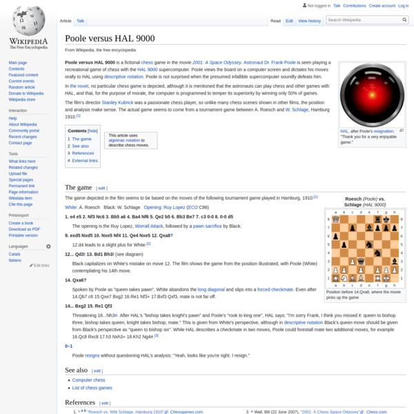 Poole versus HAL 9000