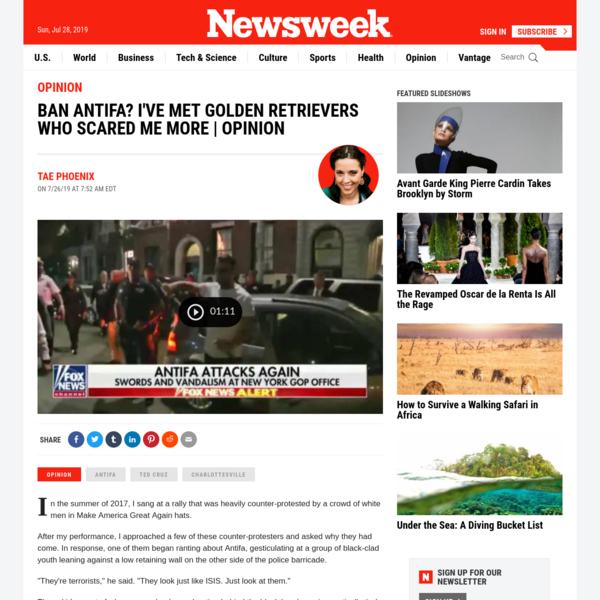 Ban Antifa? I've met golden retrievers who scared me more | Opinion