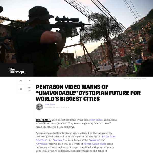 "Pentagon Video Warns of ""Unavoidable"" Dystopian Future for World's Biggest Cities"