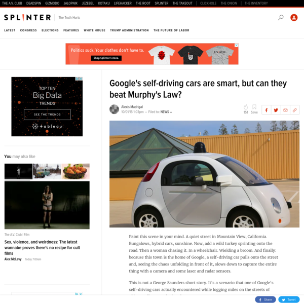 Google's self-driving cars are smart, but can they beat Murphy's Law?