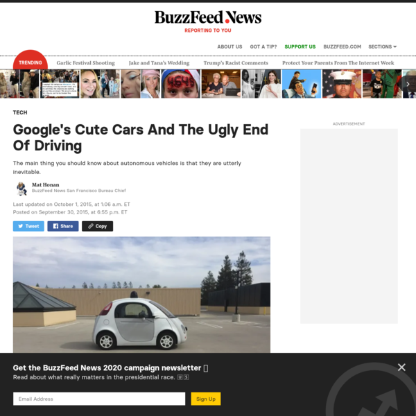 Google's Cute Cars And The Ugly End Of Driving