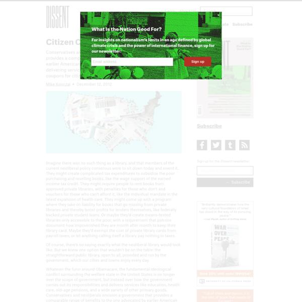 Citizen Coupon | Dissent Magazine