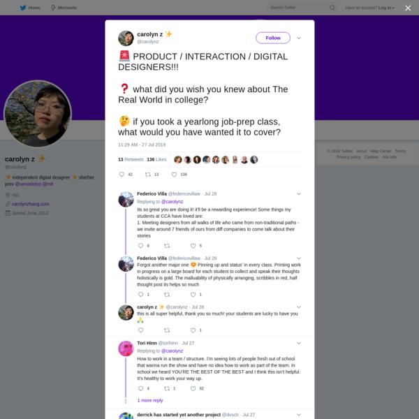 carolyn z ✨ on Twitter