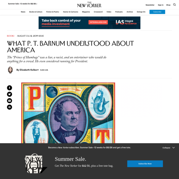 What P. T. Barnum Understood About America | The New Yorker