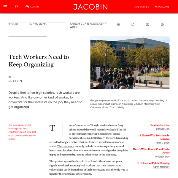 Tech Workers Need to Keep Organizing