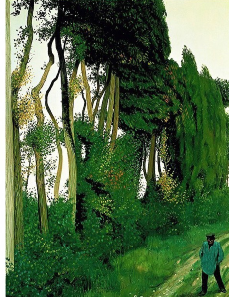 Paysage au paysan by Félix Vallotton